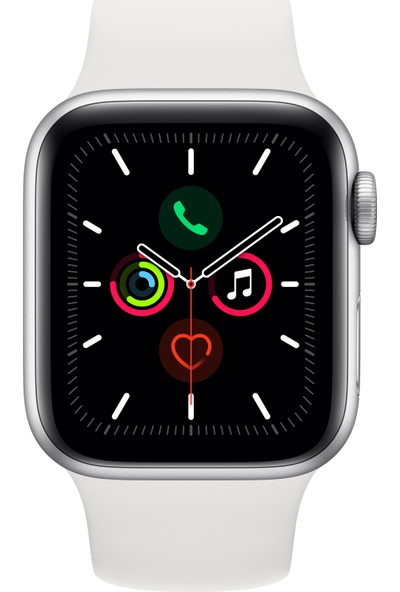 Apple Watch Seri 5 40mm GPS Silver Alüminyum Kasa ve Beyaz Spor Kordon MWV62TU/A
