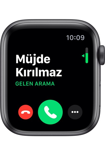 Apple Watch Nike Seri 5 44mm GPS Space Grey Alüminyum Kasa ve Antrasit/Siyah Nike Spor Kordon MX3W2TU/A