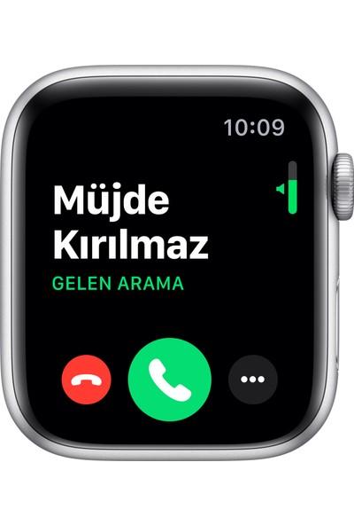 Apple Watch Nike Seri 5 44mm GPS Silver Alüminyum Kasa ve Pure Platinum/Siyah Nike Spor Kordon MX3V2TU/A