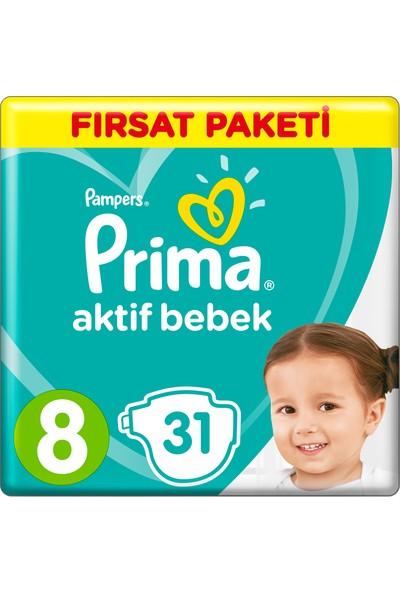Prima Bebek Bezi Aktif Bebek 8 Beden 31 Adet Fırsat Paketi