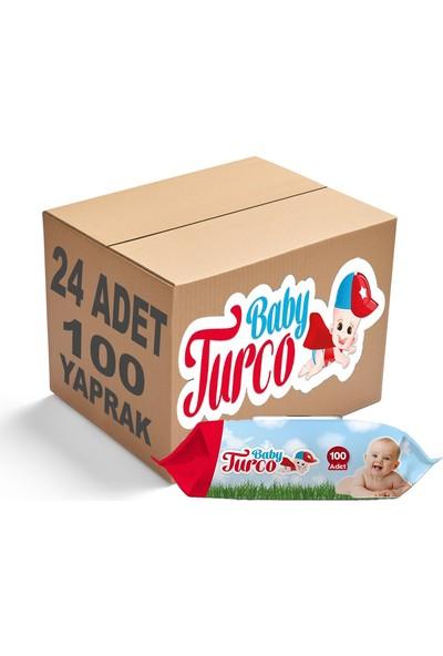 Baby Turco Islak Havlu Mendil Klasik 100 Yaprak 24 Paket Plastik Kapaklı