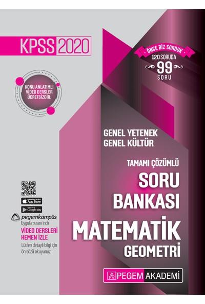Pegem Akademi 2020 KPSS Genel Yetenek Genel Kültür Tamamı Çözümlü Soru Bankası Seti (5 Kitap Takım)