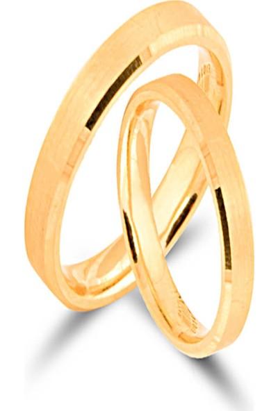 Dal Kuyumculuk 14 Ayar Sarı Altın Klasik Alyans Modeli 2 Adet