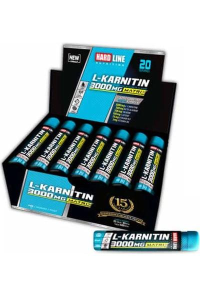 Hardline L Karnitine Matrix 3000 Mg 20 Ampül Thermo Carnitin