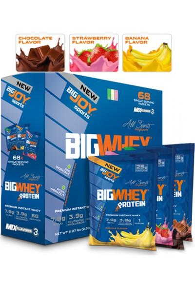 Bigjoy Bigwhey Whey Protein Tozu Tek Kullanımlık 68 Paket 4 Aromalı
