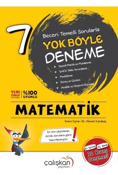 7. Sınıf Yok Böyle Matematik Branş Denemesi Çalışkan Yayınları