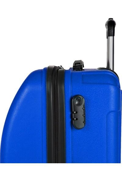 Blue Monkey V Model Orta Boy Valiz Indigo Mavi