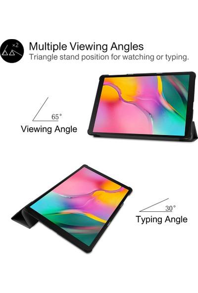 "CresCent Samsung Galaxy Tab A6 10.1"" (2016 Kalemli) P580/P585/P587 Resistance Smart Tablet Kılıfı Mor"