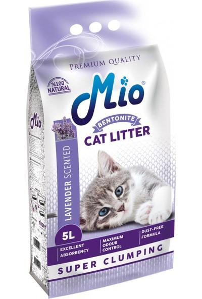 Mio Lavanta Kokulu Bentonit Topaklaşan Kedi Kumu 5 l