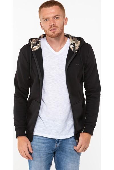 Slazenger Survival Erkek Sweatshirt Siyah