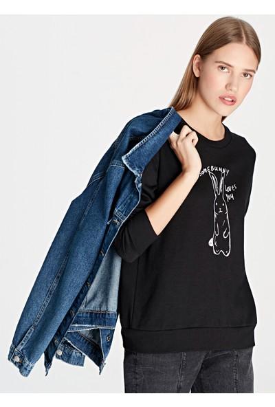 Mavi Kadın Bunny Baskılı Sweatshirt 168158-900