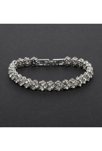 Avantajewellery Zirkon Kristal Taş Kaplama Kadın Bileklik Hediye Kutusunda