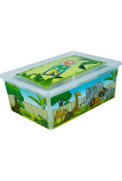 Qutu Light Box Zoo - 25 Litre Dekoratif Saklama Kutusu