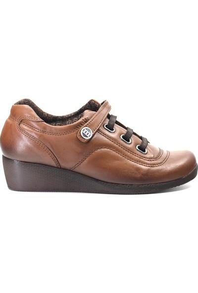 Mammamia D19KA-15 Kadın Deri Günlük Ayakkabı Taba