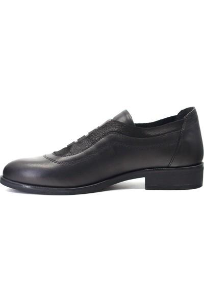 Mammamia D19KA-215 Kadın Deri Günlük Ayakkabı Siyah