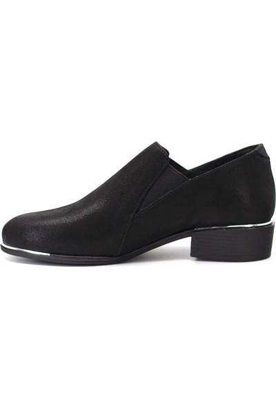 Mammamia D19KA-305-1 Kadın Deri Günlük Ayakkabı Siyah