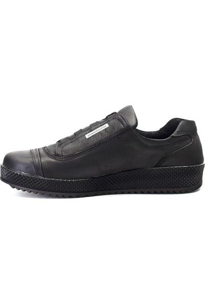 Mammamia D19KA-405 Kadın Deri Günlük Ayakkabı Siyah