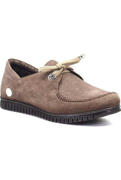 Mammamia D19KA-960 Kadın Deri Günlük Ayakkabı Vizon