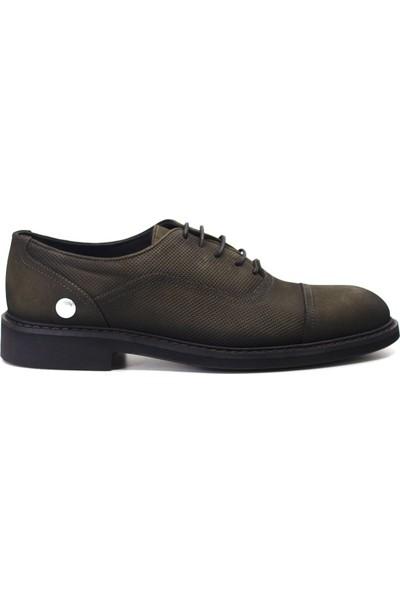 Mammamia D19KA-7270 Erkek Deri Klasik Ayakkabı Haki