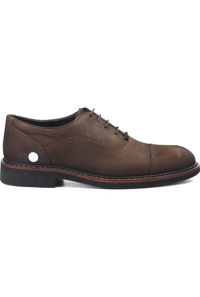 Mammamia D19KA-7270 Erkek Deri Klasik Ayakkabı Koyu Kahverengi