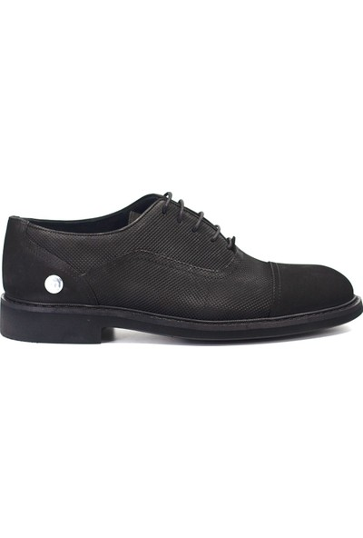 Mammamia D19KA-7270 Erkek Deri Klasik Ayakkabı Siyah