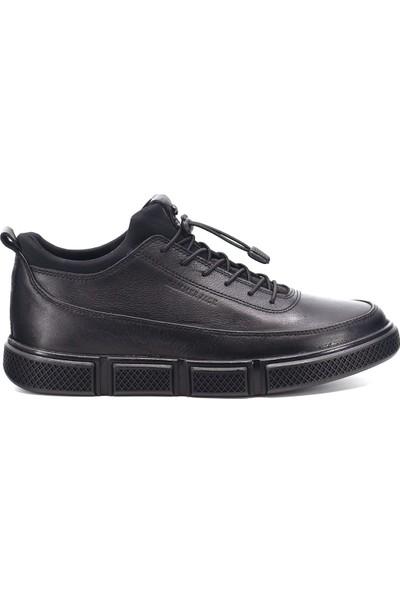 Hammer Jack 9K-M19676 Erkek Deri Günlük Ayakkabı Siyah