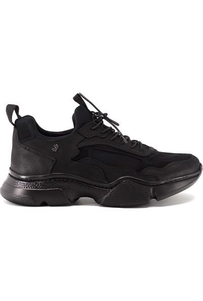 Marcomen 9K-10421 Erkek Deri Günlük Ayakkabı Siyah
