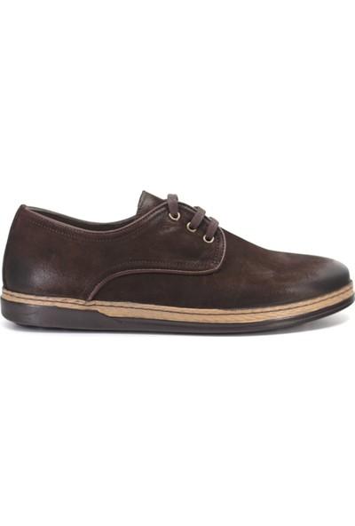 Eşle 9K-106610 Erkek Deri Günlük Ayakkabı Koyu Kahverengi