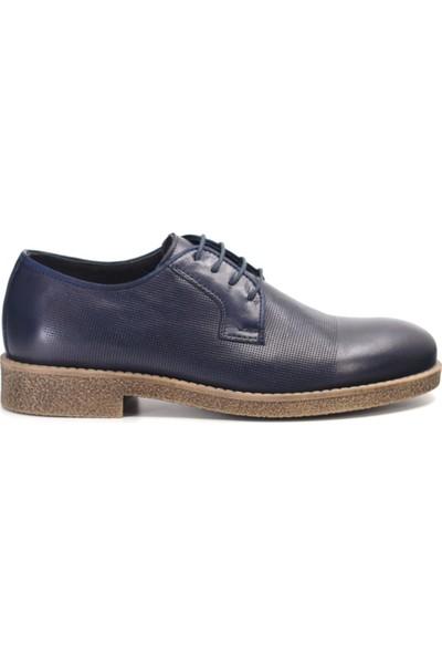 Eşle 9K-108501 Erkek Deri Günlük Ayakkabı Lacivert