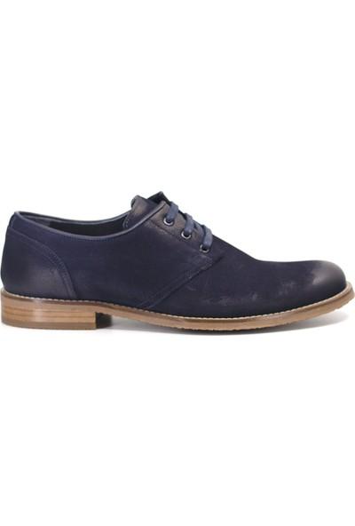 Eşle 9K-156501 Erkek Deri Günlük Ayakkabı Lacivert