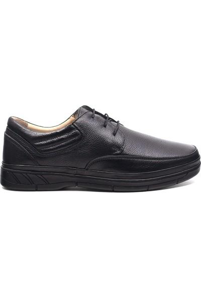 Eşle 9K-M2666 Erkek Deri Günlük Ayakkabı Siyah