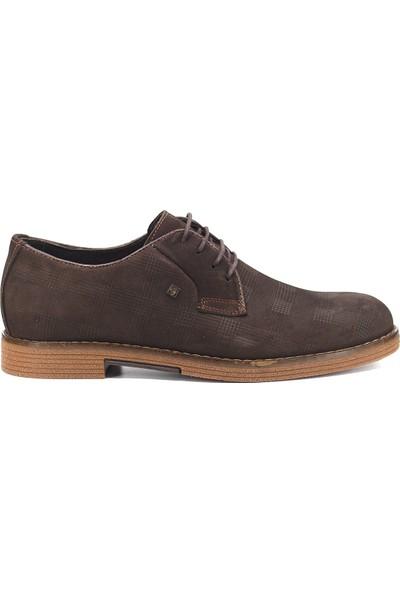 Eşle 9K-M3055 Erkek Deri Günlük Ayakkabı Koyu Kahverengi