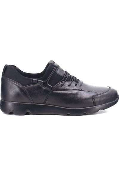 Eşle 9K-M4079 Erkek Deri Günlük Ayakkabı Siyah