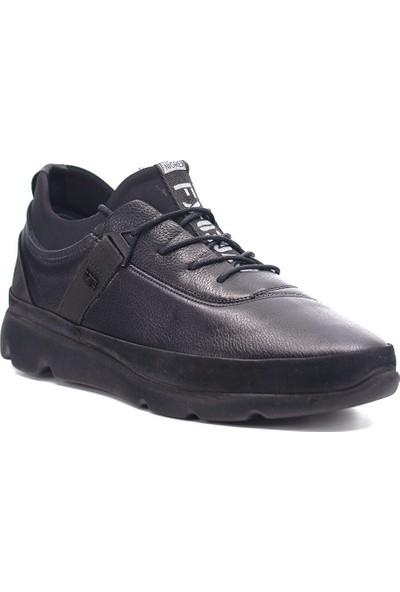 Eşle 9K-M4364 Erkek Deri Günlük Ayakkabı Siyah