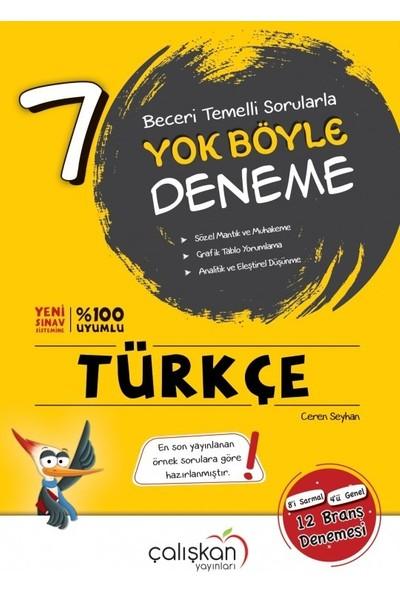 Çalışkan Yayınları 7.sınıf Yok Böyle Türkçe Branş Denemesi Çalışkan Yayınları