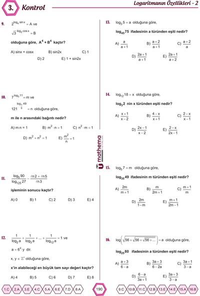 Mathema Yayınları AYT Matematik Soru Bankası
