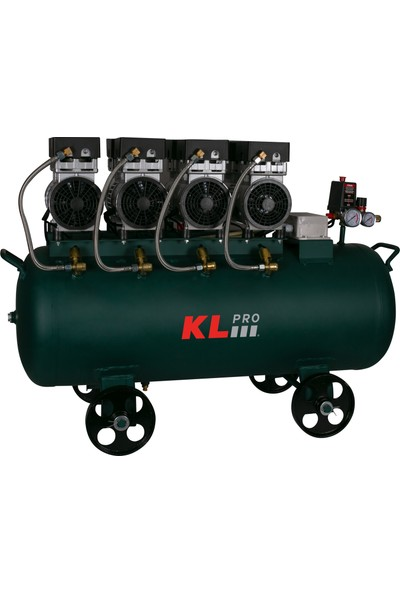 Klpro KLK104S Sessiz Kompresör 4 Hp 8 Bar 100 lt