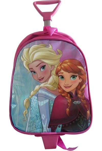 Frozen Anaokulu Çantası Çekçekli Işıklı Elsa ve Anna