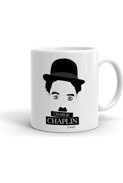 2k Dizayn Charlie Chaplin Tasarım Seramik Kupa Bardak