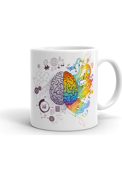 2k Dizayn Sanatsal ve Teknik Beyin Tasarım Seramik Kupa Bardak