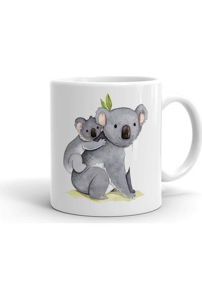 2k Dizayn Anne ve Yavru Koala Tasarım Seramik Kupa Bardak