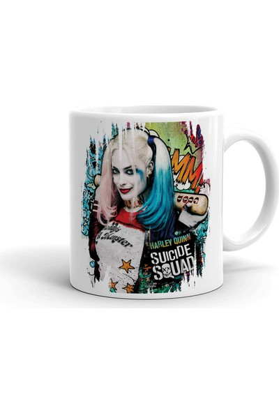 2k Dizayn Harley Quinn Tasarım Seramik Kupa Bardak