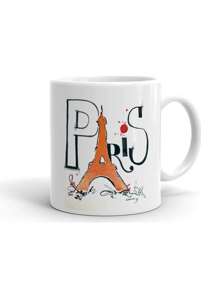 2k Dizayn Paris Tasarım Seramik Kupa Bardak