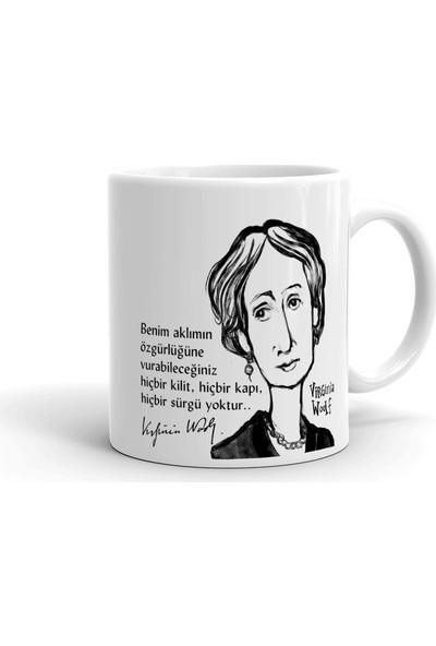 2k Dizayn Virginia Woolf Tasarım Seramik Kupa Bardak