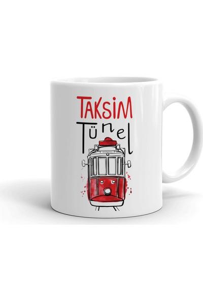 2k Dizayn Taksim Tünel Tasarım Seramik Kupa Bardak