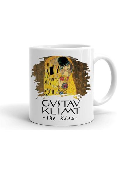 2k Dizayn Gustav Klimt The Kiss Tasarım Seramik Kupa Bardak