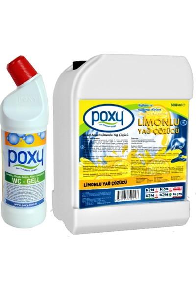 Limonlu Yağ Çözücü 5000 ml Wc Jell 1000 ml