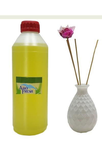 Aırofresh Bambu Oda Parfümü 1 lt Meyvemsi + Vazo Bambu Koku Yedeği