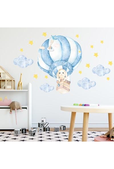 Sim Tasarım Uçan Balonlu Sevimli Tavşan
