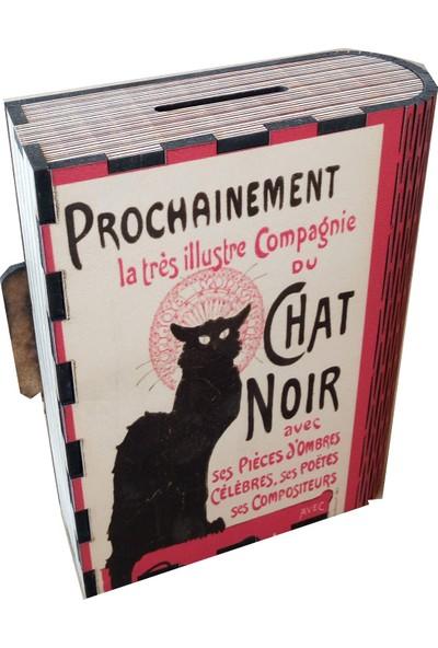 Pratik Dekor Chat Noir Kitap Kutu Kumbara